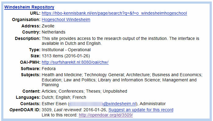 windesheim repository open access