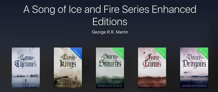 Enhanced Editions iBooks A song of ice and fire