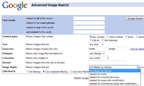 how to search for cc on google images