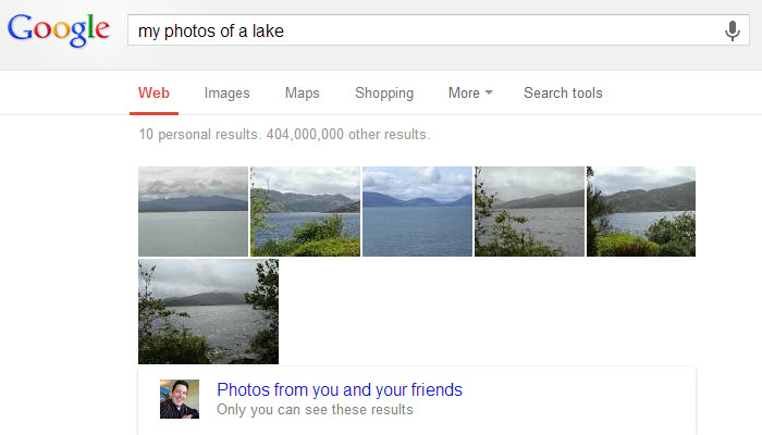 slimmer zoeken google photo search