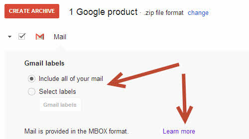 google takeout gmail