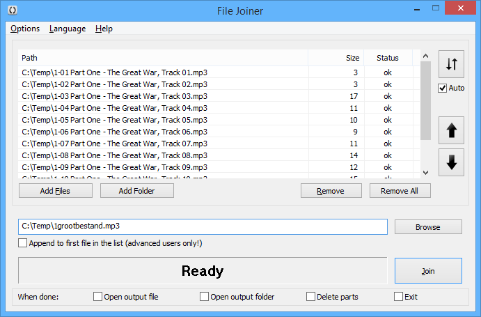 File joiner and splitter 4.0.5.0 by ebookking