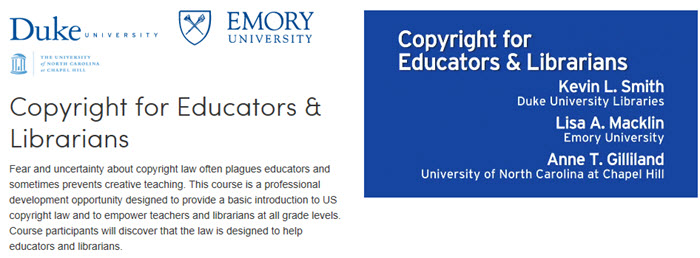 Copyright for Educators and Librarians Coursera
