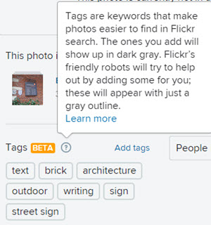 flickr autotags