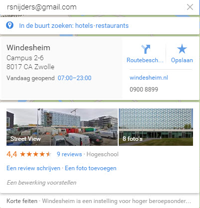 search google maps mail