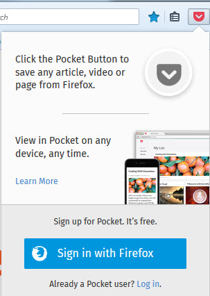 pocket in firefox