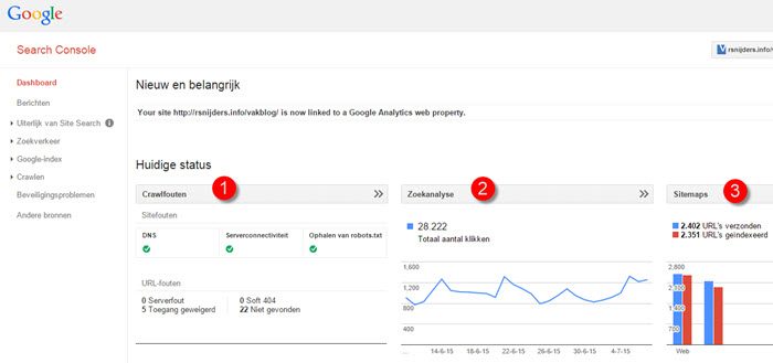 Beter grip op je blog met de google search console vakblog for Search console