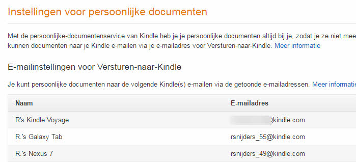 ebooks via mail versturen kindle