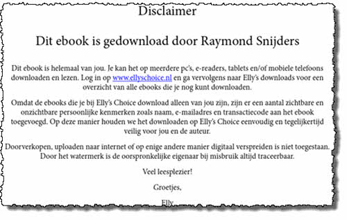 drm disclaimer watermerkbeveiliging