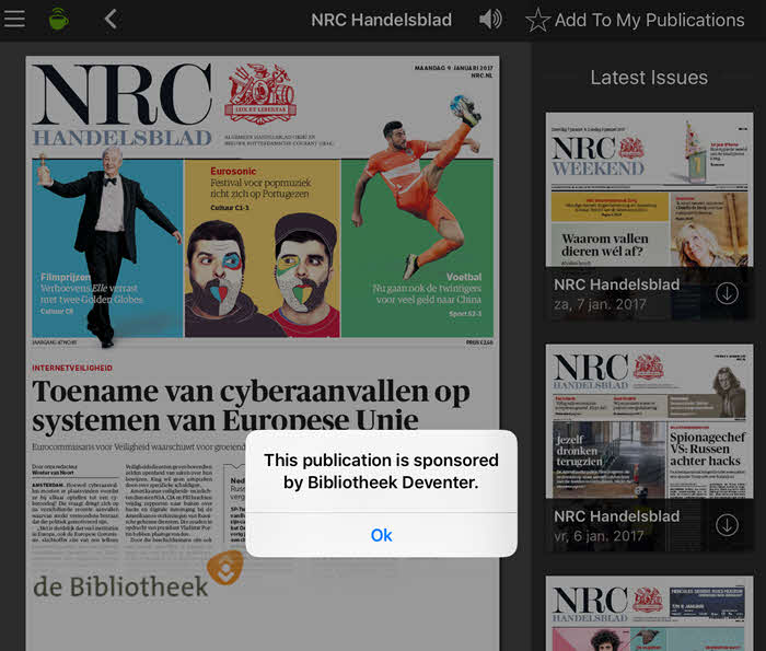 pressreader bibliotheek nrc