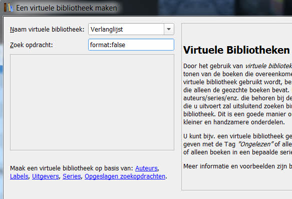 calibre virtuele bibliotheek leegboek