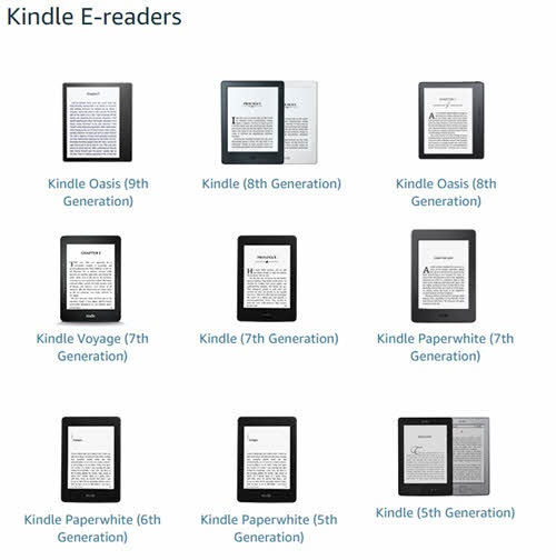 kindle models updates