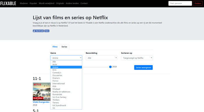 netflix flixable zoek