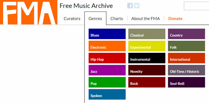 free music archive genres