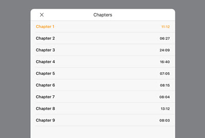 audible chapters