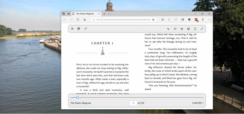 microsoft edge epub header