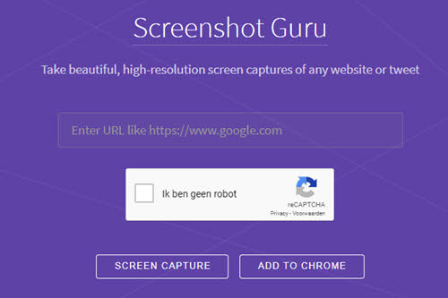 screenshot guru website