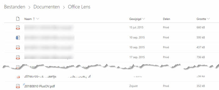 office lens documenten scannen