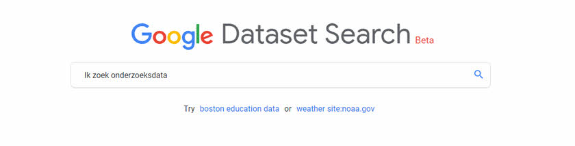 google dataset search header